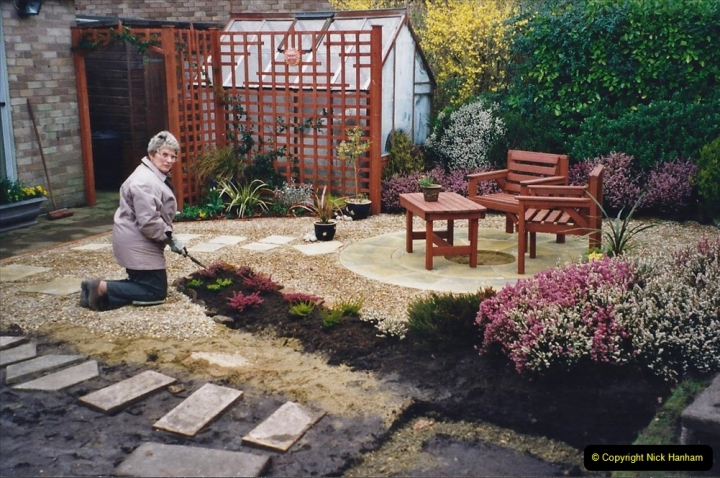 2001 Garden improvements at my Wifes cousins by your Host. Garden designed by my Wife's cousin.  (37) 37