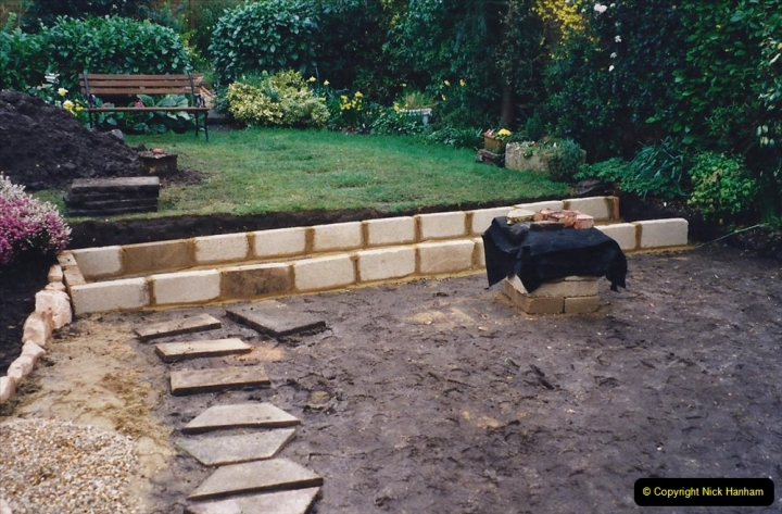 2001 Garden improvements at my Wifes cousins by your Host. Garden designed by my Wife's cousin.  (40) 40
