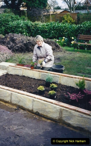 2001 Garden improvements at my Wifes cousins by your Host. Garden designed by my Wife's cousin.  (43) 43