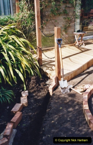 2001 Garden improvements at my Wifes cousins by your Host. Garden designed by my Wife's cousin.  (52) 52