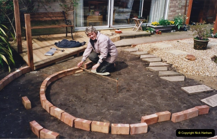 2001 Garden improvements at my Wifes cousins by your Host. Garden designed by my Wife's cousin.  (53) 53