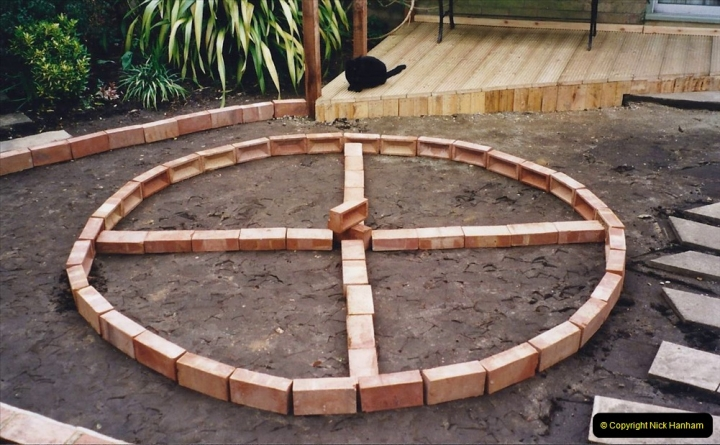 2001 Garden improvements at my Wifes cousins by your Host. Garden designed by my Wife's cousin.  (54) 54
