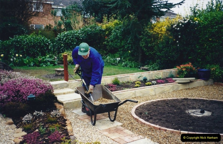 2001 Garden improvements at my Wifes cousins by your Host. Garden designed by my Wife's cousin.  (58) 58