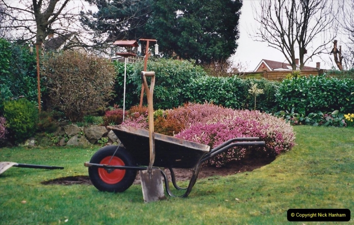 2001 Garden improvements at my Wifes cousins by your Host. Garden designed by my Wife's cousin.  (7) 07