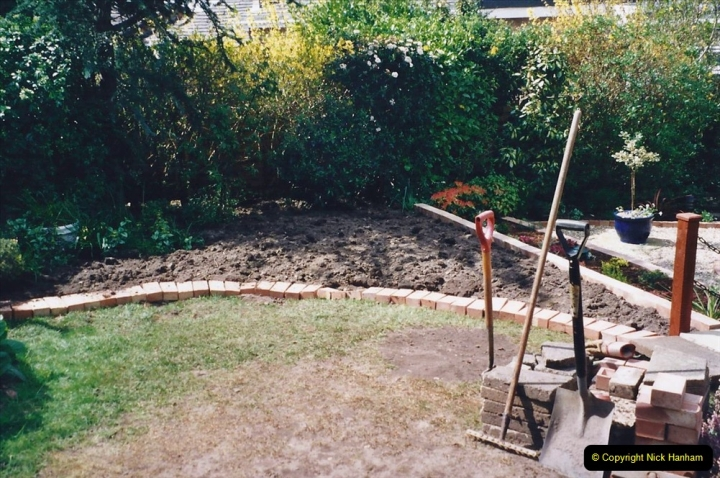 2001 Garden improvements at my Wifes cousins by your Host. Garden designed by my Wife's cousin.  (70) 70