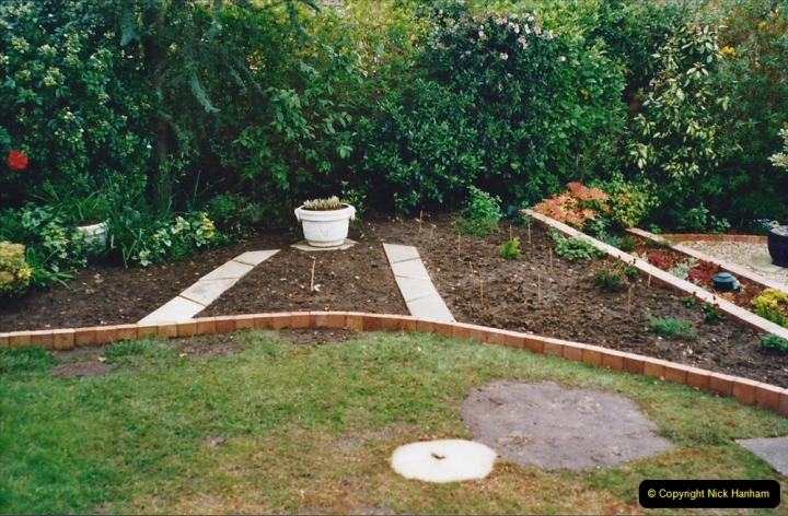 2001 Garden improvements at my Wifes cousins by your Host. Garden designed by my Wife's cousin.  (77) 77