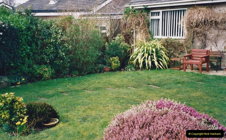 2001 Garden improvements at my Wifes cousins by your Host. Garden designed by my Wife's cousin.  (88) Other views of development. 88