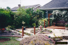 2001 Garden improvements at my Wifes cousins by your Host. Garden designed by my Wife's cousin.  (90) Other views of development. 90