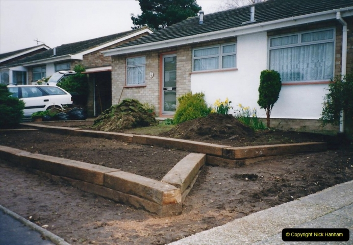 Retrospective 2002 Garden improvements at my Wife's cousins by your Host. Garden designed by my Wife's Cousin. (25) 26