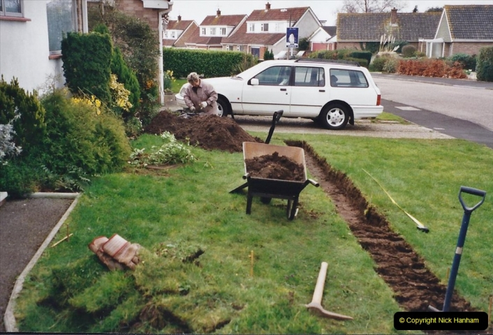 Retrospective 2002 Garden improvements at my Wife's cousins by your Host. Garden designed by my Wife's Cousin. (8) 09