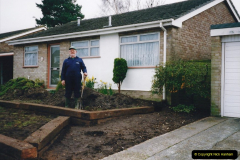 Retrospective 2002 Garden improvements at my Wife's cousins by your Host. Garden designed by my Wife's Cousin. (21) 22