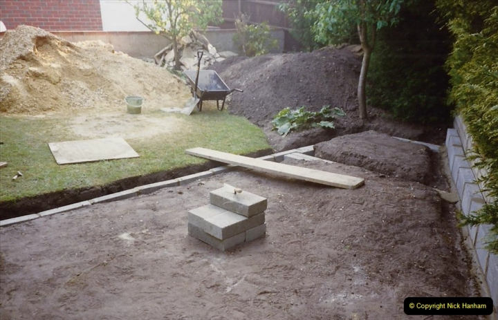 April 1990 Your Host alters the back garden. (10) 10
