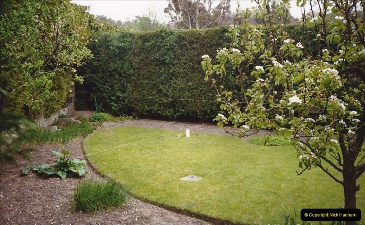 April 1990 Your Host alters the back garden. (1)01