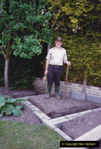 April 1990 Your Host alters the back garden. (11) 11