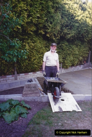 April 1990 Your Host alters the back garden. (15) 15