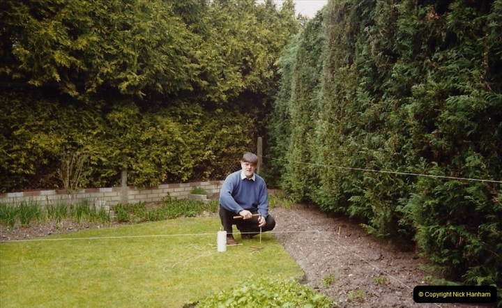 April 1990 Your Host alters the back garden. (2) 02