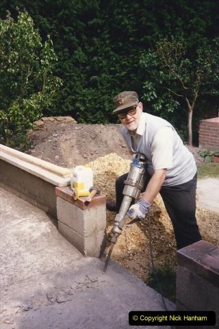 April 1990 Your Host alters the back garden. (21) Jack Hammer work.21