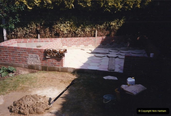 April 1990 Your Host alters the back garden. (22)22