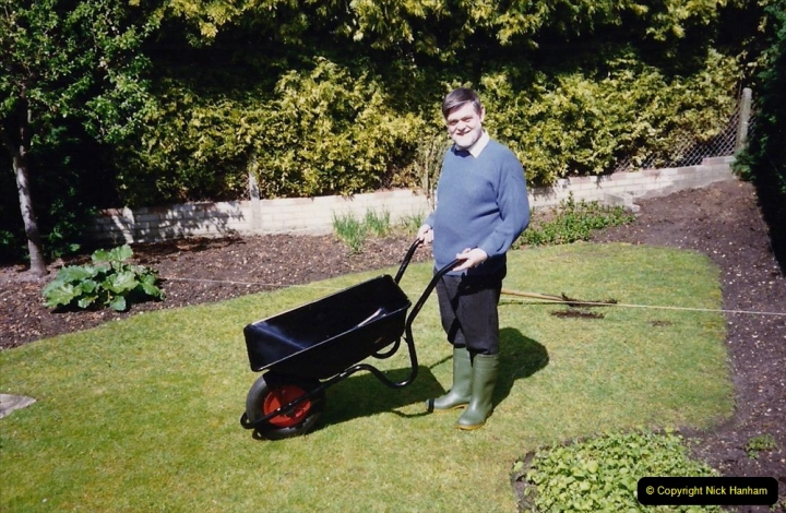April 1990 Your Host alters the back garden. (4) 04