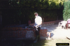April 1990 Your Host alters the back garden. (17) Bricklaying. 16