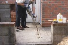 April 1990 Your Host alters the back garden. (20) Jack Hammer work.20