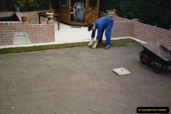 April 1990 Your Host alters the back garden. (57) New lawn. 57