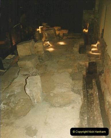 1984 Bath, Somerset. (35) The old walls at the Roman Baths. 130321130