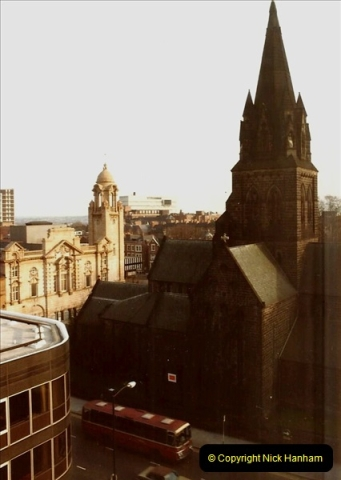 1984 Nottingham. (2) View from our hotel.166357166