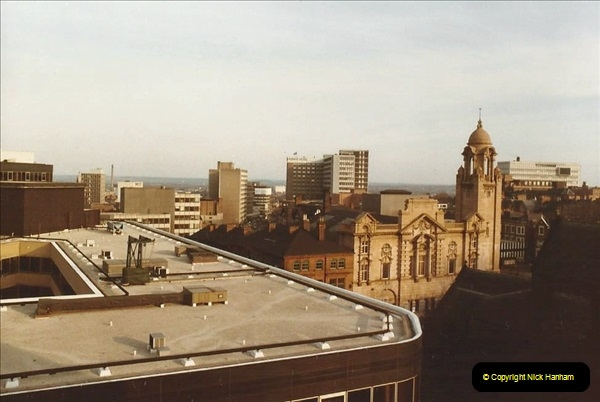 1984 Nottingham. (3) View from our hotel. 167358167
