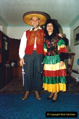 1987 Your Host and Wife attend a Mexican Evening Dinner in Bournemouth. (2) 595402