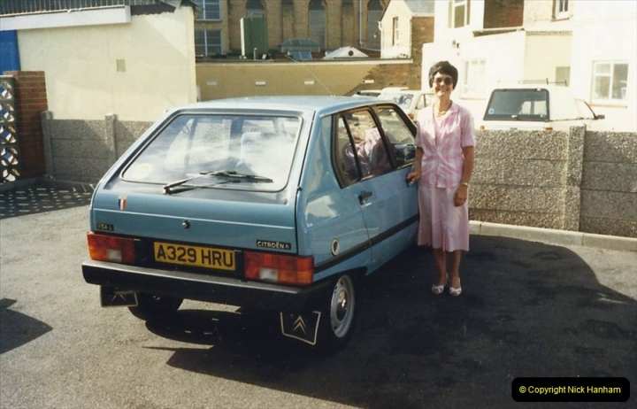 1988 A new car for your Host's Wife birthday. Good bye to the old car. (10)610416