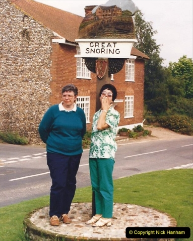 1988 At Great Snoring, Norfolk. Your Host's Wife and friend Gloria. (61)613419