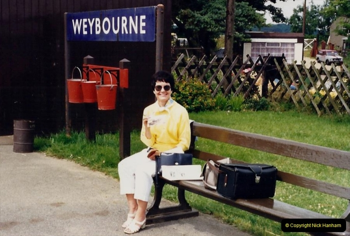 1988 At the North Norfolk Railway. Your Host's Wife. (54)615421