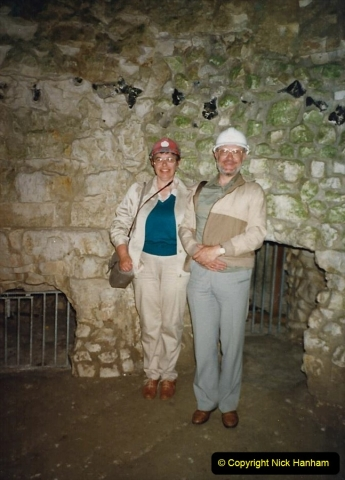 1988 We visit Grimes Graves in Norfolk with friends. Your Host, Wife and friends Paul and Gloria. (58)705545