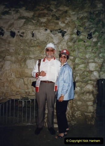 1988 We visit Grimes Graves in Norfolk with friends. Your Host, Wife and friends Paul and Gloria. (59)706546