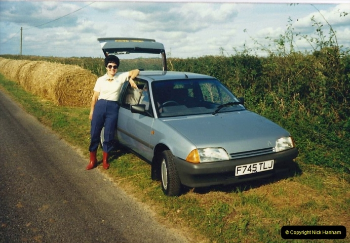 1988 Your Host's Wife trying out her new car. (13)718561