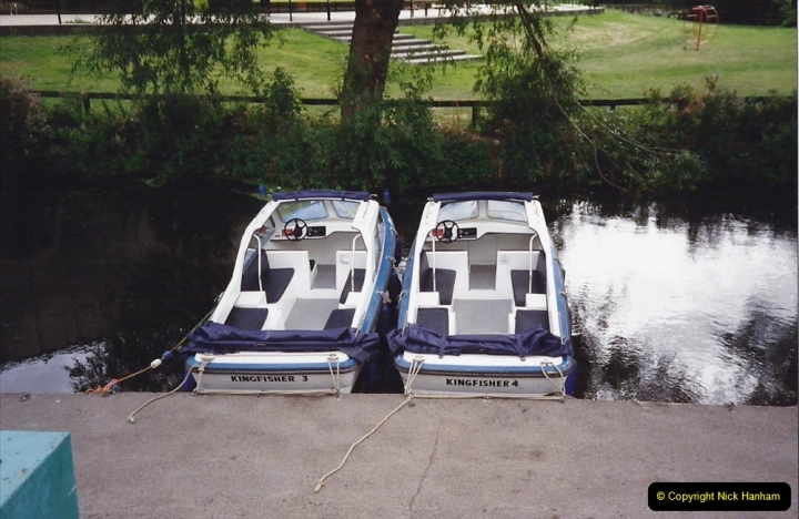 1989 A boat ride on the River Lee at Broxborne, Hertfordshire. (2)