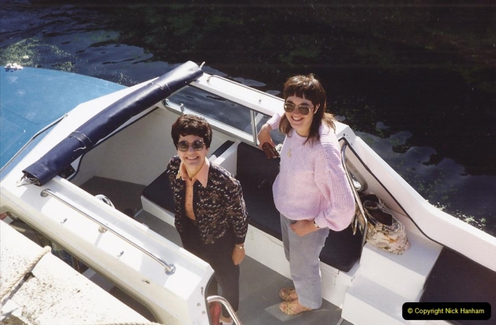 1989 A boat ride on the River Lee at Broxborne, Hertfordshire. (5)