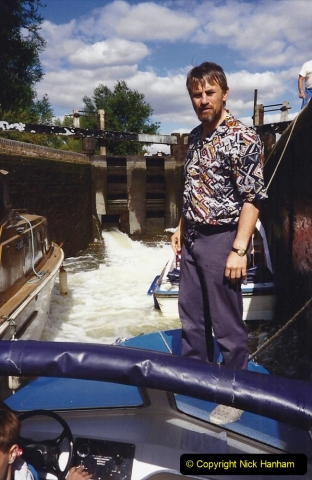 1989 A boat ride on the River Lee at Broxborne, Hertfordshire. (6)