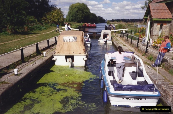 1989 A boat ride on the River Lee at Broxborne, Hertfordshire. (8)
