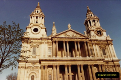 1982 London. (4) St. Pauls Cathedral. 013204013