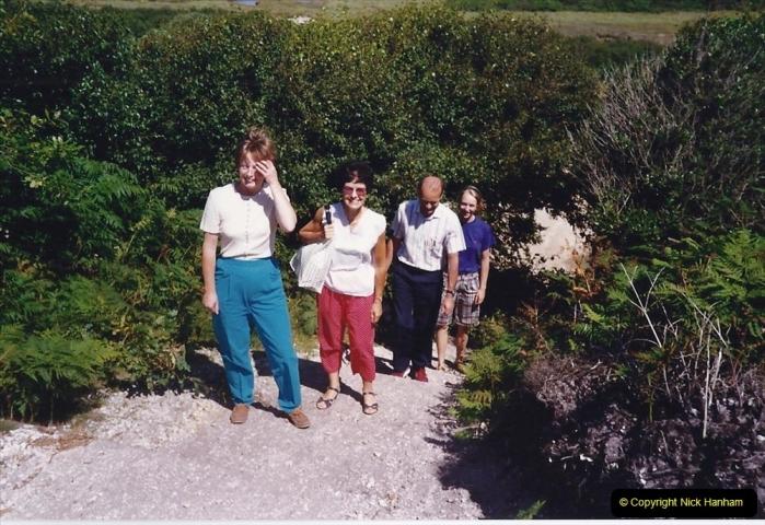 1991 Miscellaneous. (104) Tuckton to Hengistbury Head near Christchurch. Walking with friends.0105