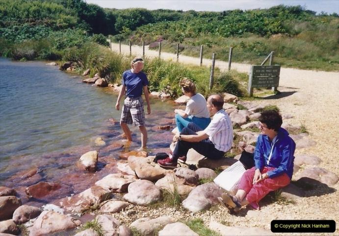 1991 Miscellaneous. (106) Tuckton to Hengistbury Head near Christchurch. Rest time.0107