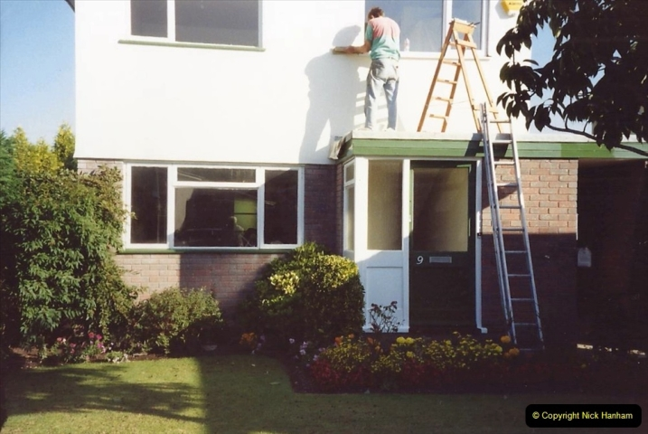 1991 Miscellaneous. (110) Replacement windows double glazed being fitted to your Host & Wife's Home. 0111