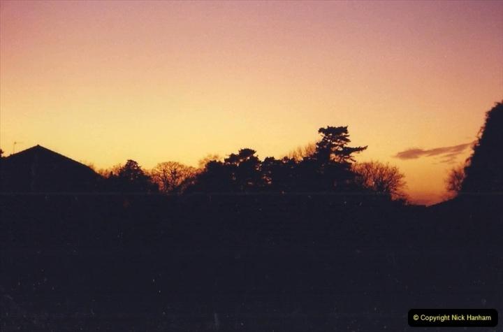 1992 Miscellaneous. (121) Sunset over Poole, Dorset.0122
