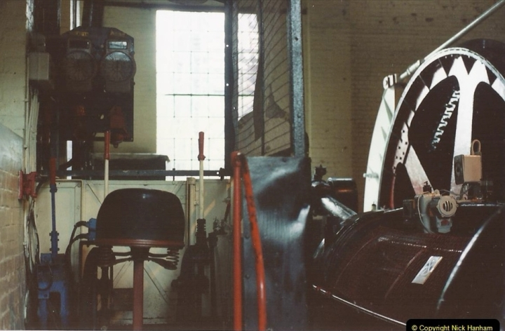 1992 Miscellaneous. (166) Cefn Coed Mine. & Museum. Pit head winding gear.0168