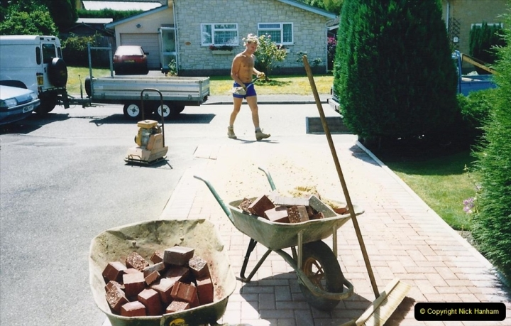 1993 Miscellaneous. (388) New driveway for your Host & Wife. 0392