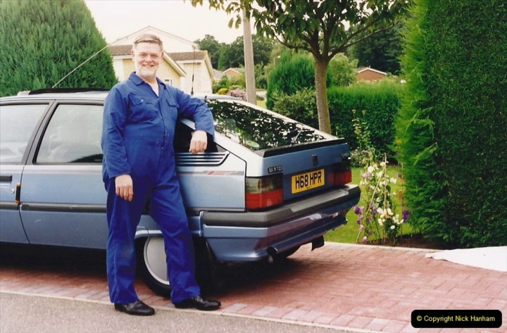 1993 Miscellaneous. (398) Your Host with his old car.0402