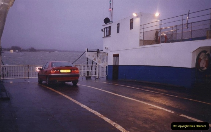 1993 Miscellaneous. (521) Only car on the ferry on my way to Swanage 19 December.0425