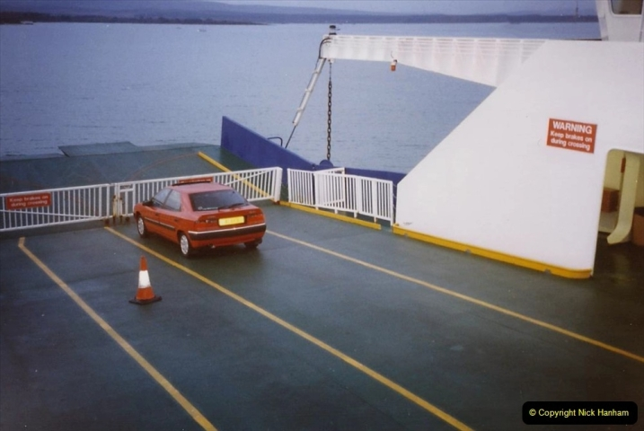 1995 Miscellaneous. (88) Only car on the ferry to Swanage.0587